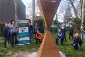 De zandloper als resultaat van het project Dorp Dynamiek in Kluizen