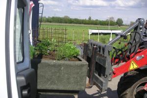 warme tuin Kapelle o/p Bos, mobiele bakken