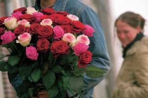 Rozen op Valentijn