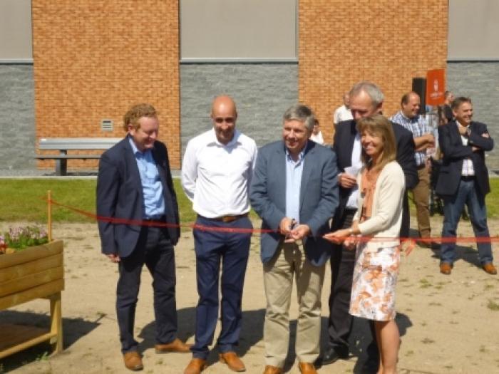 Warme tuin Ocura Beringen, opening met minister Vandeurzen en Boerenbondvoorzitter Sonja De Becker